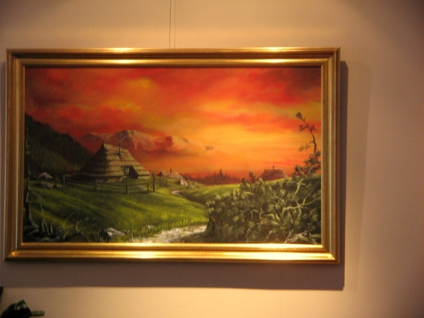а это я ещё зашла на выставку нашего художника , я о нём уже писала , что он пишет акрилом строител... - 2