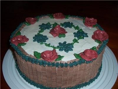 """девочки у всех очень красивые тортики а вот моё чудо,краски как всегда подвели ,это торт"""" воздушный... - 2"""