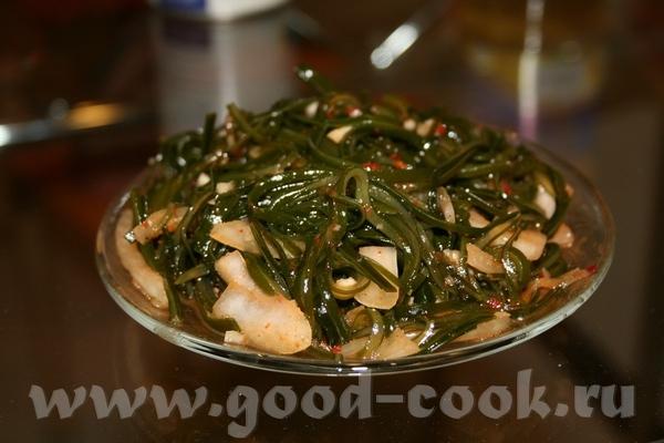 Салат из морской капусты ламинарии по-корейски