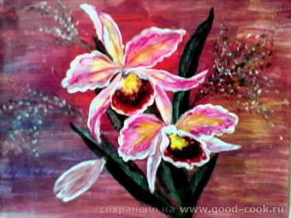орхидеи акрил