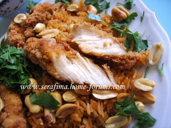 Кабсе (кабса) Красный прянный рис с курицей Арабская кухня - 2