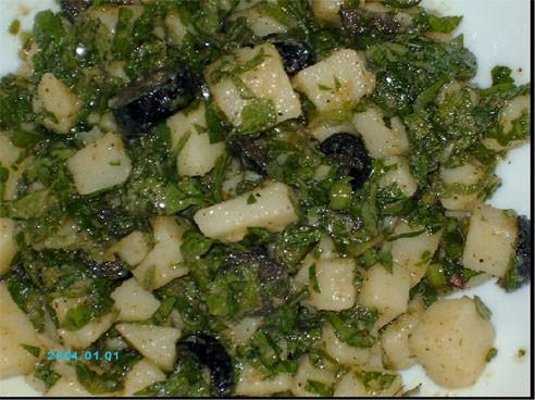 """Девочки, предлагаю очень простой """"Картофельный салат"""", такой салат готовят во многих арабских стран..."""