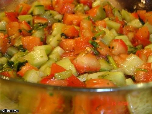 Очень вкусный Арабский салат от Верочки-crimchanca , спасибо ей