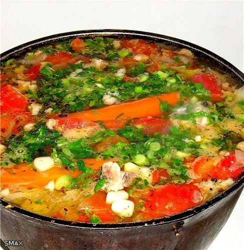Состав: мясо, овощи, горох, зелень, специи - 3