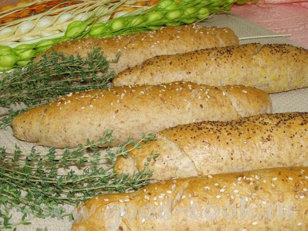 Темный хлеб на пиве с колбасой и сыром Булочки Булочки с отрубями и тимьяном - 3