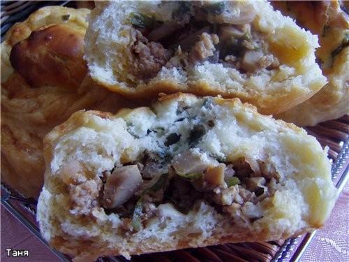 Булочки с мясом и грибами - 2