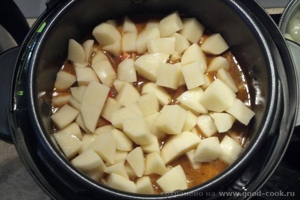 Готовим венгерский суп-гуляш: картофель