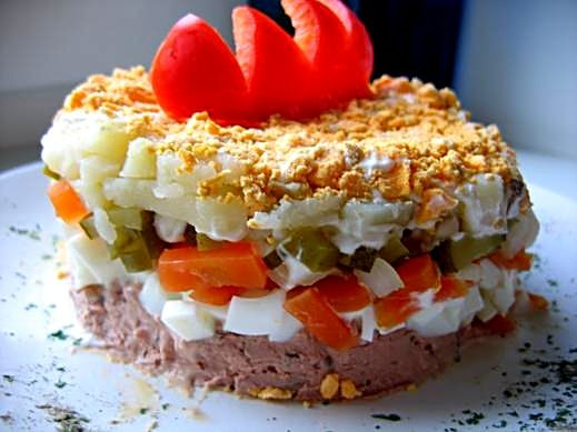 салат петушки