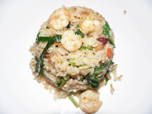 У нас сегодня тоже рис и салат