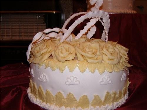 мои первые свадебные торты, kotorye delala dlya podrugi vchera - 2
