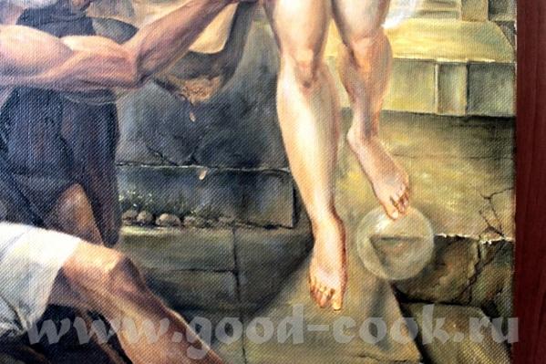Девочки мальчики посмотрите копию Нишии и фортуна холст масло 1 м 10 см на 80 см делал почти 4 меся... - 3