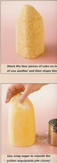 """Торт """"Бешенная корова"""" Вырезать форму конуса из торта и покрыть ее мастикой - 2"""