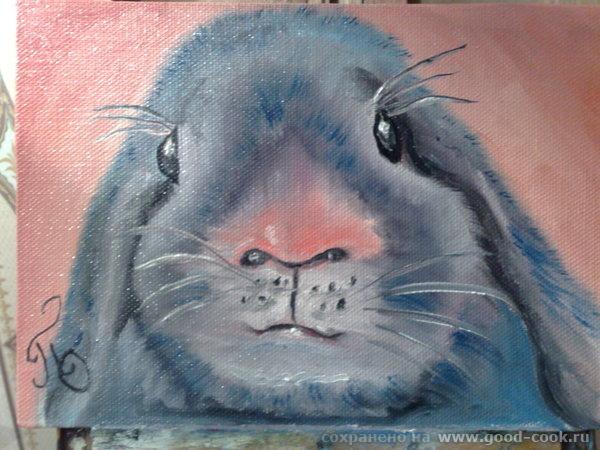 это к новому году рисовала кроликов ну и киски для настроения - 2