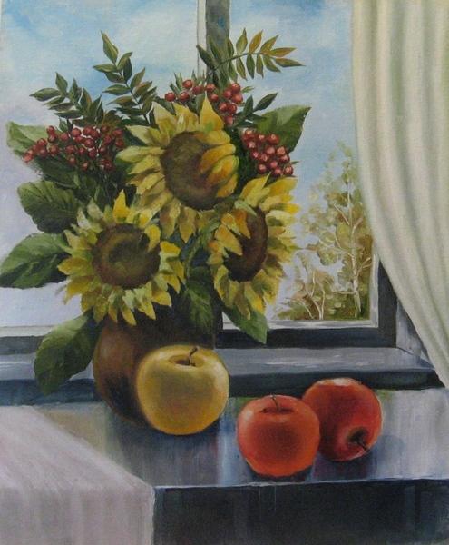 Моя новая картина Осенний натюр, 50х60 см, холст на картоне, масло Выбираем фото для осеннего верни...
