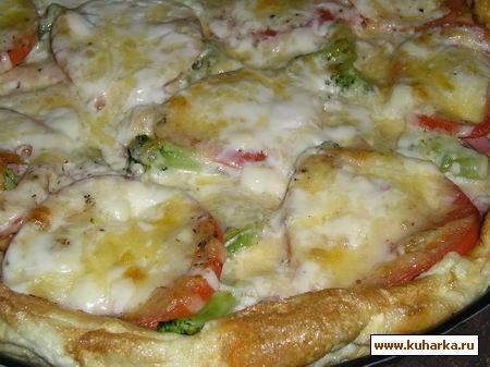 Я сегодня для себя открыла очень вкусную Пиццу- омлет ( от Cher )Вы, наверное, уже такое пробовали