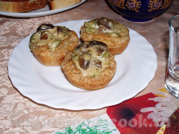 Пирог с баклажанами,грибами и капустой Тарталетки с брокколи и грибами Киш с цветной капустой и каб... - 2