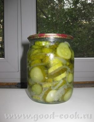А еще мы потихоньку начинаем собирать урожай огурцов и я начала консервировать свой любимый салат С... - 2