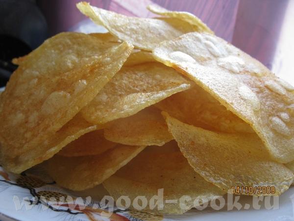 Чипсы а-ля ЛЕЙС Сын давно хотел попробовать как могут получиться чипсы домашние - 2