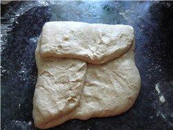 Вкусный хлеб с крупнопористым мякишем, хрустящей корочкой(пока тёплый) - 4