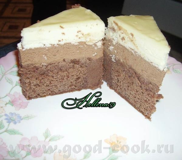 """Торт"""" Три шоколада"""" Источник ЗДЕСЬ Пошагово ТУТ Для шоколадного бисквита: - Мука пшеничная 100гр -... - 3"""