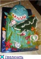 торт шкатулка торт акула-морское дно торт розовые босоножки в цветочках - 4