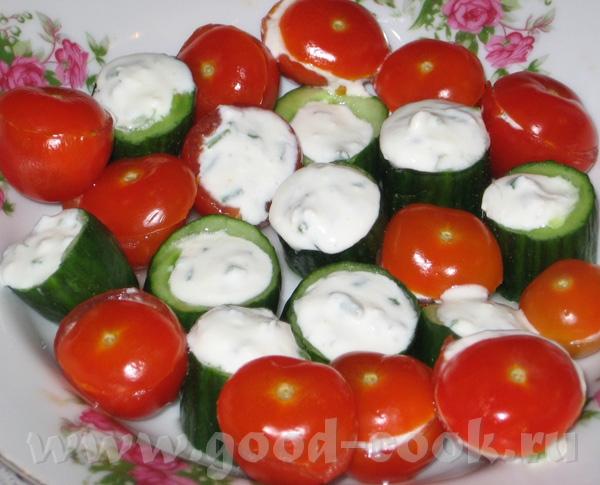 Овощи, фаршированные брынзой Продукты: красные помидоры шерри – 10 шт