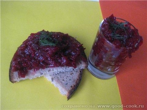Свекольная икра Отварная свёкла - 400 гр лук - 1 шт томат -паста - 3 ст л сладкий соус чили - 1 стл...