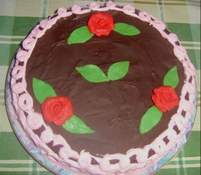 Очень красивый тортик получился
