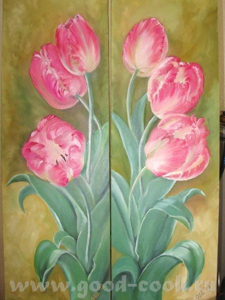 А это мои прошлогодние тюльпаны,я их кажется не показывала