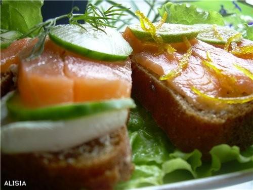 Бутерброды с Лососем Mалосольным в Aпельсиновом Cоке - 2