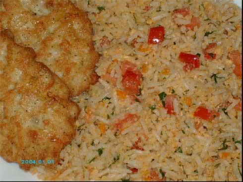 """на обед у меня сплошная импровизация на тему """"Утилизация риса"""", выполненная по мотивам рецептов """"Жа..."""