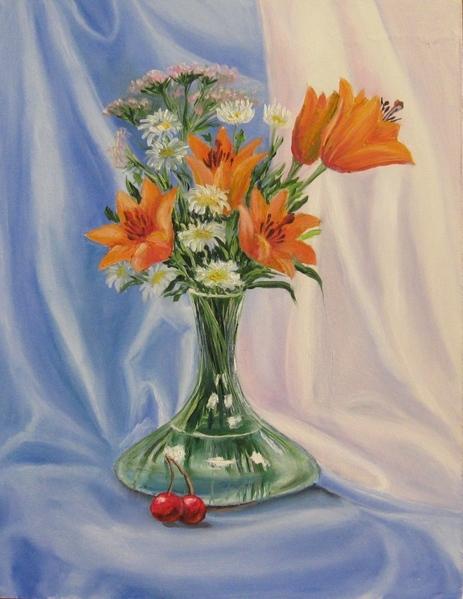 Мои новые картины Фиалка масло 20х30 см Рисовала с натуры Пионы Масло, 35х45 см Этюд с натуры в сту... - 4