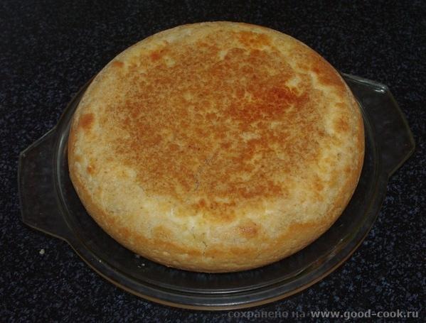 Пирог с нежной творожной начинкой