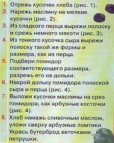 Нам потребуется: Хлеб Помидор Зеленый сладкий перец Сыр Черная маслина Сливочное масло Петрушка - 2