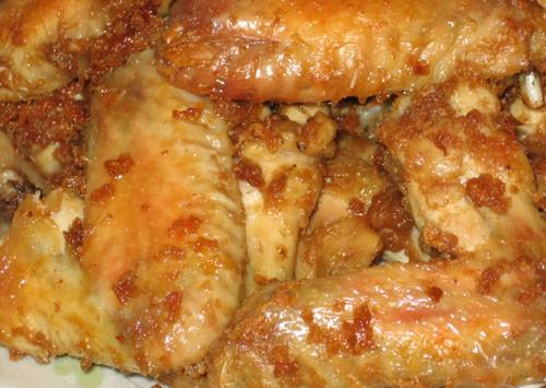 Куриные крылья в арахисовой пасте