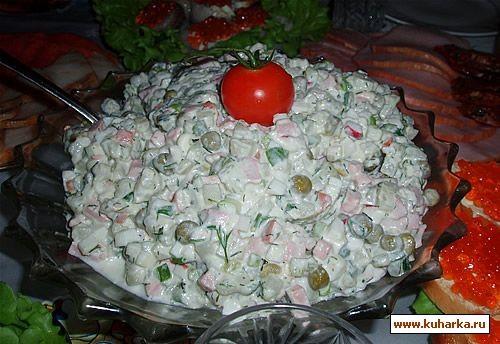 """У нас был тазик оливье , салат из авокадо и киви от Иланочки , салат """"Осенний вальс"""" от Lesya , кор... - 2"""
