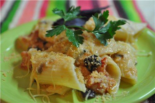 Макароны с баклажанами и помидорами Рецепт брала с этого САЙТА