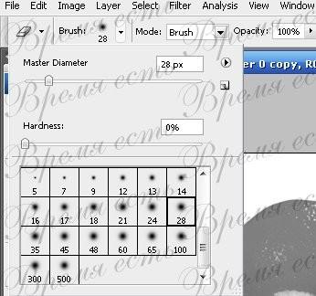 Цветное на черно-белом Открываем цветную картинку Дублируем слой, и к верхнему применяем Image > Ad... - 5