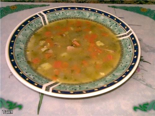 Желтый суп с чечевицей и хумусом Гороховый суп с машем Суп-солянка - 2