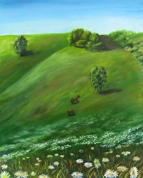 Мои новые пейзажики масло, 50х40 см масло, 60х40 см Белесости на картинах нет, долго редактировала...