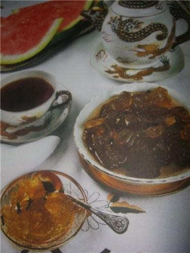 Варенье из арбузных корок(азербайджанская кухня) взято из книги Х