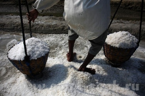 так добывают соль вручную, вернее вножную Говорят, что надо употреблять меньше соли- не можете - 2