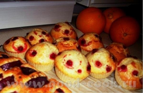 Сметанные кексы с клюквой Источник - очень вкусный Жжурнал Иры-Чадейки