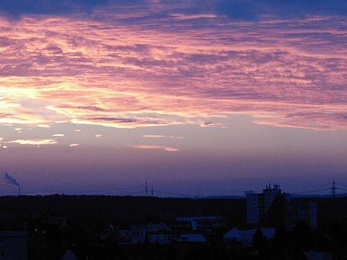 """А вот такие закаты иногда """"показывают"""" с моего балкона самые дальние светящиеся точки на последнем..."""