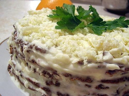 Суп-харчо (делала позавчера) и печеночный тортик (вчера вечером) - 2