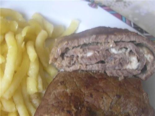 Рулет говяжий с сыром Фета, просто и всегда вкусно