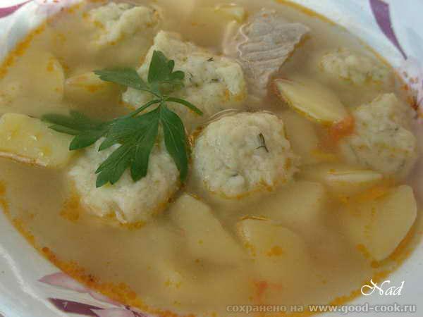 суп с галушками из кабачка1