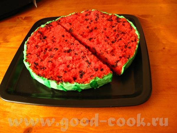 """Торт «Арбуз"""" Этот смешной тортик нашла на сайте компании Wilton (производит всевозможные кондитерск... - 2"""