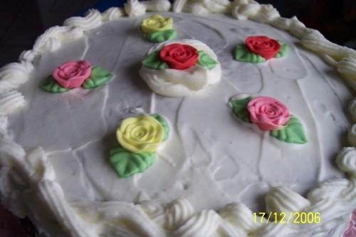 Вот такой вот тортик я подарила сама себе на день рождения