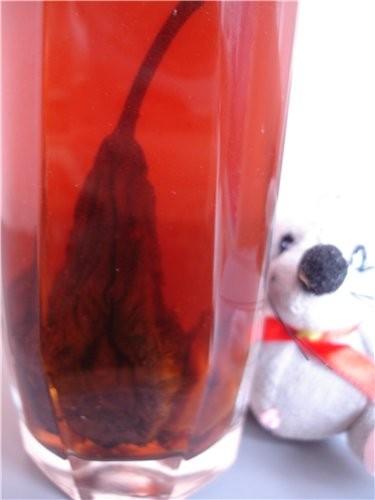 Да, совсем забыла, я же еще компот из сушки сварила -- шиповник и груши